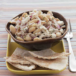 Roasted Chicken and White Beans with Greek DressingRecipe