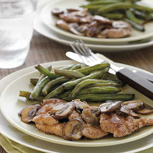 Seared Pork Tenderloin Medallions with Shallot-Mushroom Pan GravyRecipe