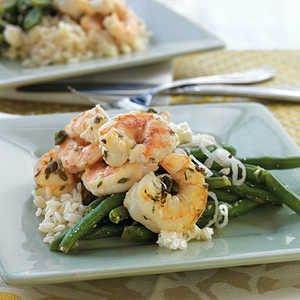 Shrimp with Capers, Garlic, and Rice Recipe