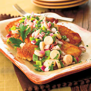 Crisp Chicken with Hearts of Palm SaladRecipe