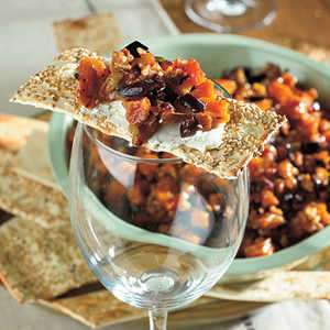 Peach and Pecan Tapenade with Goat CheeseRecipe