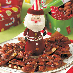 Holly-Jolly Almond BrittleRecipe