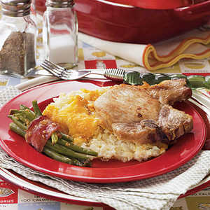 Hashbrown-Pork Chop Casserole Recipe