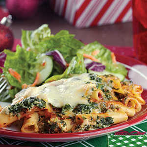 Ziti with Spinach & Cheese Recipe