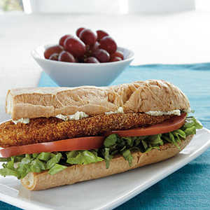 Cornmeal-Crusted Tilapia Sandwiches with Lime ButterRecipe