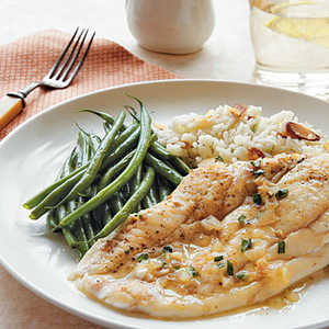Sole with Tarragon-Butter SauceRecipe