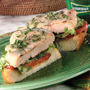 Open-Faced Mediterranean Grilled Chicken SandwichesRecipe