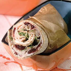 Turkey-And-Chutney Pita WrapsRecipe