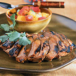Barbecued Duck With Mango SalsaRecipe
