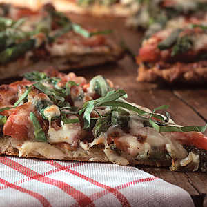 Pizza With Tomatoes, Asparagus, And BasilRecipe