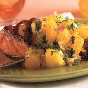 Grilled Salmon With Mango SalsaRecipe