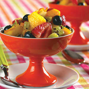 Fresh Fruit Salad With Lime-Ginger SyrupRecipe