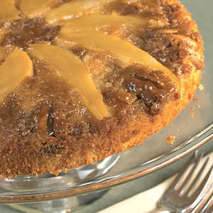 Pear Upside-Down Cake With PecansRecipe