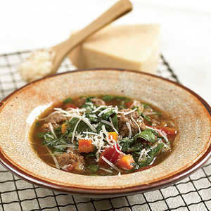 Meatball Soup With SpinachRecipe