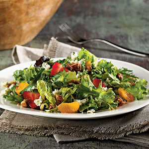 Mixed Greens with Praline Pecans and Blue CheeseRecipe