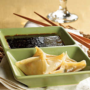 Pork Dumplings with Tangy Dipping Sauce Recipe