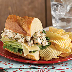 Tarragon Chicken Salad Sandwiches with AppleRecipe