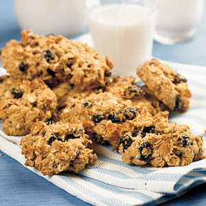 Blueberry-Walnut Oatmeal CookiesRecipe