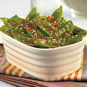 Orange-Sesame Snow Peas Recipe