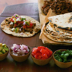 Pulled-Pork Fajitas Recipe