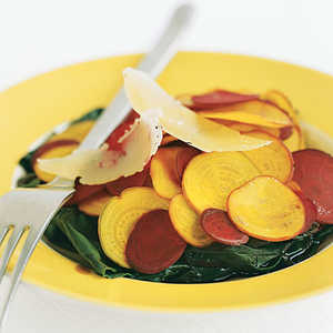 Shaved Baby Beets With GreensRecipe