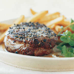 Pan-Seared Steak Au Poivre Recipe