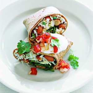 Red Bean and Spinach BurritosRecipe