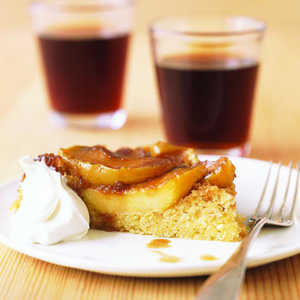 Upside-Down Apple Polenta Cake Recipe