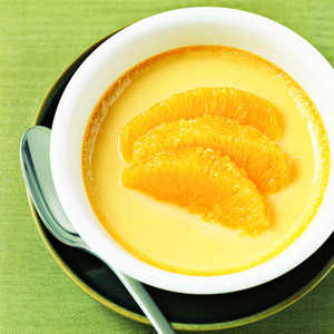 Custard with Rum-Marinated Oranges Recipe