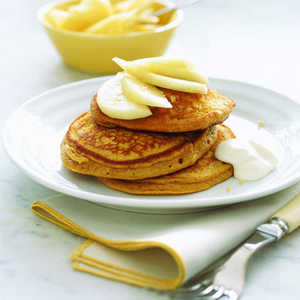 Gingerbread Pancakes with Pears and YogurtRecipe