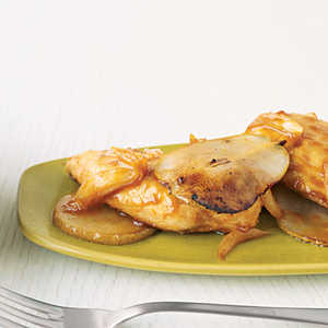 Orange-Glazed Chicken with PearsRecipe