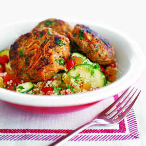 Mint Couscous with Zucchini and TomatoRecipe