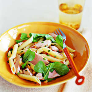 Penne with Salmon, Arugula, and ChivesRecipe