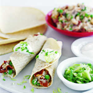 Roll-Ups with Bacon, Peas, and New PotatoesRecipe