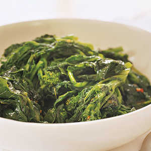 Broccoli Rabe with Currant VinaigretteRecipe