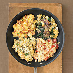 Eggs with Red Onion and SpinachRecipe