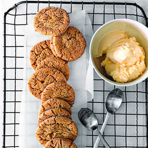 Gingersnaps with Crystallized Ginger Recipe