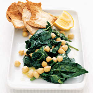 Lemon-Spinach Chickpeas Recipe