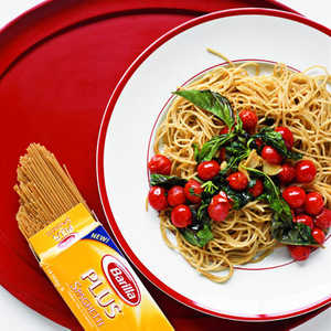 Pasta with Warm Tomatoes and BasilRecipe