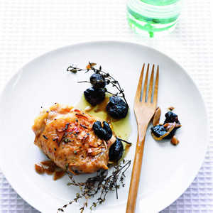"""Roast Chicken with Olives, Garlic, and Thyme""Recipe"