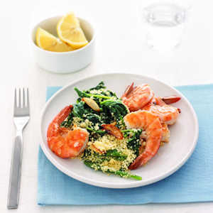 Shrimp with Arugula CouscousRecipe
