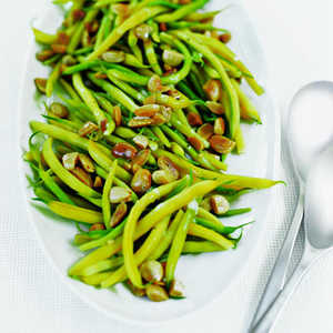 Yellow Wax Beans with Toasted AlmondsRecipe