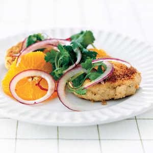 Tortilla-Crusted Cod CakesRecipe