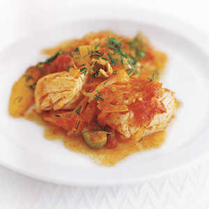 """Halibut with Tomato, Orange, and Dill"" Recipe"