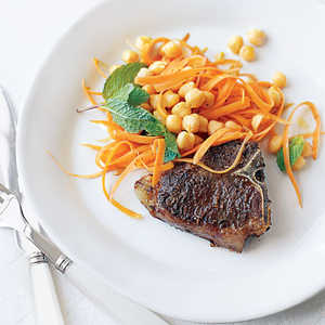 Spiced Lamb Chops with ChickpeasRecipe