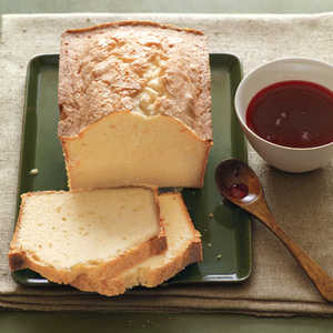 Citrus Pound Cake with Cranberry SyrupRecipe