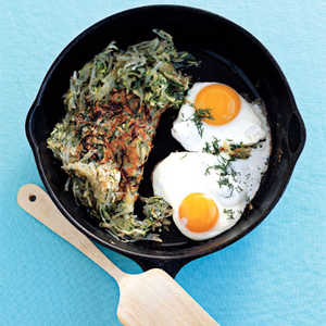 Spring Hash with Eggs Sunny-Side Up Recipe