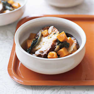 Vegetable Soup with Parmesan Toasts Recipe