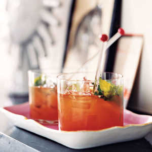 Bourbon and Blood Orange BlastRecipe