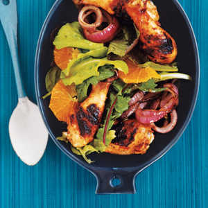 Grilled Chicken Legs with Orange and RosemaryRecipe